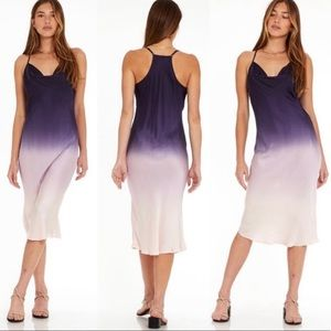 NWT Young Broke Fabulous SWEETIE SLIP DRESS OMBRE